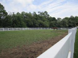 Outdoor riding arena ring
